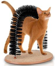 Kleeger Cat Scratcher And Grooming Arch: Self Groomer And Massager With Catni.