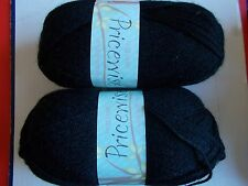 King Cole Priceswise double knitting yarn, Black, lot of 2 (320 yd ea)