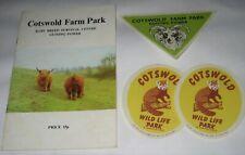 Vintage COTSWOLD FARM PARK GUIDE & STICKERS Glos