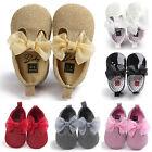 Baby Soft Sole Leather Shoes Newborn Infant Girl Toddler Crib Moccasin Prewalker
