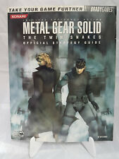 Metal Gear Solid The Twin Snakes Official Strategy Guide Brady Games Konami