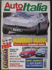 Auto Italia January 1997 Maserati Bora Fiat X1/9 Lancia Thema 8.32 Iso Daytona