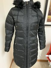 f71b08a491a Ralph Lauren Down Parka (S) Womens Jacket Hooded Black Faux Fur trim Coat  $320
