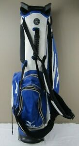 Great Mizuno Tour Series Carry/Stand Golf Bag, Blue/White, 4 Club Divider