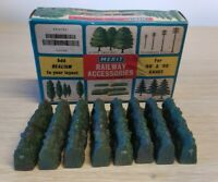 MERIT HEDGES FOR HORNBY TRIANG RAILWAYS OO GAUGE vtg boxed x8