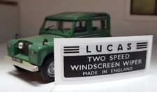 Lucas Repro 2 Speed Wiper Motor DR1 DR3A DL2 SW4 Sticker Decal Land Rover Series