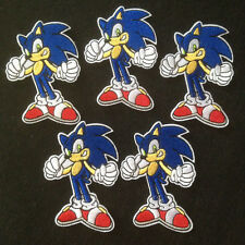 5pcs Sonic the Hedgehog Iron On Embroidery Embroidered Patches Appliques Craft