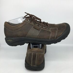Keen Austin Walking Trail Outdoor Shoe 1007722 Brown Leather Men Size 11.5 US