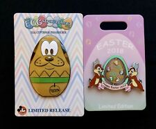 Disney DLR *2018 EASTER CHIP 'N DALE SPINNER PIN* LE 3000  NEW