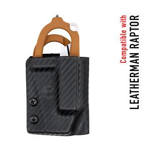 Clip & Carry Kydex Multitool Sheath fits Leatherman RAPTOR Trauma Shears - USA