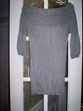 Daytrip Lovely Silver Sparkly Long Top Womens Size Medium M