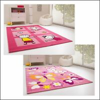 KIDS RUG OLIVIA FRIENDS BUTTERFLY FOR GIRLS CHILDRENS ROOM PINK