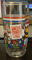 McDonald's McVote Quarter Pounder with Cheese drinking glass. Rare 1986 election