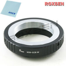 leica m39 39mm mount lens to canon eos m ef-m mount camera adapter m2 m3 m10