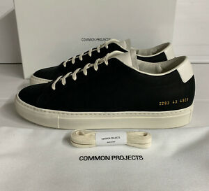 Common projects Achilles Nubuck Sneakers Navy Size 9 UK 43 EU New Boxed Italy