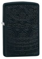 Zippo Tone on Tone Design Black Matte Windproof Pocket Lighter, 29989