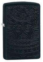 Zippo Tone on Tone Design Black Matte Windproof Pocket Lighter, 29989