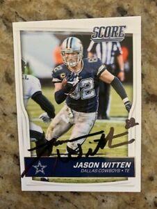 JASON WITTEN SIGNED Dallas Cowboys 2016 Panini SCORE card w/COA