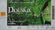 TICKET 5.9.2009 Polska Polen - Northern Ireland Nordirland