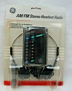 NEW Vtg GE AM/FM Personal Stereo walkman style Radio 7-1627S General Electric