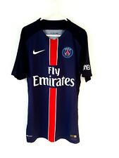PSG Home Shirt 2015. Small Adults. Nike. Blue Short Sleeves Football Top Only S.