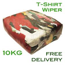 10Kg Tshirt Cotton Rags Wiping Cleaning Cloths Workshop Mechanic t-shirt t shirt
