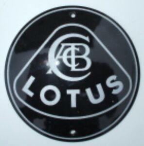 Lotus vitreous enamel steel badge 100mm diameter (jj)