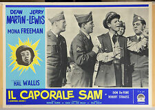 FOTOBUSTA 4, IL CAPORALE SAM Jumping Jacks JERRY LEWIS, COMICO, MOVIE POSTER