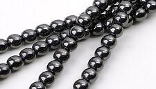 50 Fine Quality Genuine Hematite Round Beads 8MM