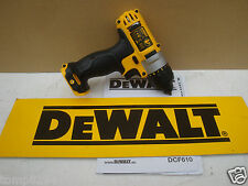 BRAND NEW DEWALT XR DCF610 10.8V  SCREWDRIVER BARE UNIT + CARRYING CASE