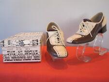 Vintage 1960s 1970s Brown Oxford Brogue Shoes Rockabilly Retro Mod Boho 2 Tone 6