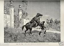 1884= RISORGIMENTO= NINO BIXIO ROMA 1849 = Rara Stampa Antica