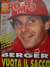 Auto & Sport ROMBO 45 1995 Gerhard Berger tutta la verità sul caso Ferrari