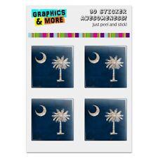 Rustic South Carolina State Flag USA Computer Case Modding Badge Stickers Set