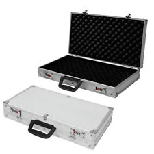 4fb3eb16530 Aluminium Pistol Gun Case Carry Storage Lockable Flight Case Tool Secure Box
