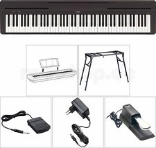 Yamaha P45 B Digital E-Piano SET mit Stativ/Tisch Sustain Halte Pedal Netzteil