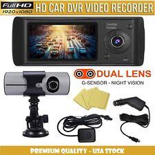 Dual Lens Full HD Car DVR Camera Dash Cam G-Sensor And GPS Support – USA Stock