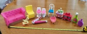 Vintage Lot of  Barbie Doll Furniture and Accessories  1970's, Couch, Chairs,