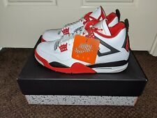 New Mens Size 9.5 Nike Air Jordan 4 Retro OG Fire Red 2020 DC7770-160 Authentic
