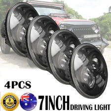 """4x7"""" 200W CREE H4 High Low Beam LED Driving Lights For JEEP Wrangler Land Rover"""