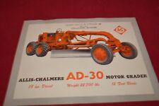 Allis Chalmers AD-30 Motor Grader Dealer's Brochure YABE14