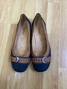 GABOR Michelle Womens Casual Stud Buckle Pumps Size UK 4.5