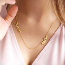 Personalized Custom Names Necklace Nameplate Pendant Stainless Steel MomJewelry