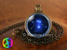 Astrology Aquarius Constellation Stars Jewelry Necklace Pendant Charm Gift Gifts