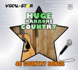 VOCAL-STAR COUNTRY HUGE KARAOKE HITS CDG CD+G DISC SET - 40 SONGS
