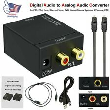 Optical Coaxial Toslink Digital to Analog Audio Converter Adapter Rca L /R