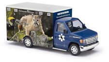 "Busch 41849 - 1/87/h0 FORD e-350 Ambulance-Wyoming Medical Center ""Lion"""