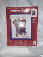 Red Hat Society Lets Play Dress Up Cross Stitch Sampler Kit Candamar Designs