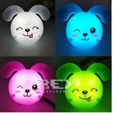 Conejo LED Enchufe Luz Nocturna Colores Bebe Niños Buenas Noches ¡España! vr