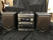 *Tested* Aiwa 3-Cd Stereo Cx-Nv2100U year 1997 with Speakers